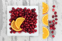 Cranberry and Orange Fruit Royalty Free Stock Photography
