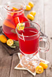 Cranberry and orange holiday punch with sage Royalty Free Stock Photo