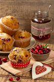 Cranberry Orange Muffins Stock Photo