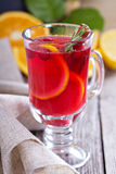 Cranberry orange punch with cinnamon Royalty Free Stock Images