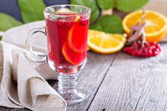 Cranberry orange punch with cinnamon Stock Images