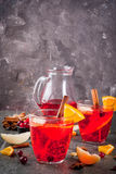 Cranberry and orange punch Royalty Free Stock Images