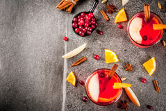 Cranberry and orange punch Stock Photo