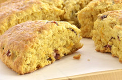 Cranberry orange scones Stock Photos