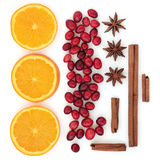 Cranberry Orange and Spices Royalty Free Stock Images