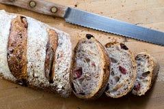 Cranberry orzecha włoskiego chleb Zdjęcie Stock