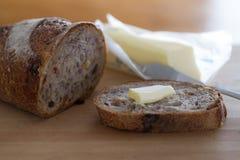 Cranberry orzecha włoskiego chleb Zdjęcie Royalty Free