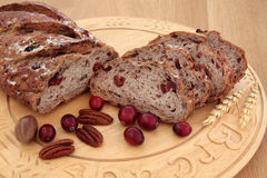 Cranberry and Pecan Bread Stock Photo