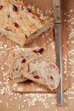 Cranberry pecan oat bread stock photo
