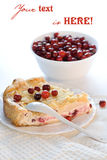 Cranberry pie Stock Photos