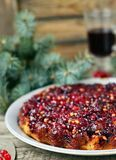 Cranberry pie Stock Photography