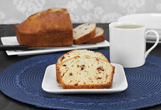 Cranberry pound cake, slices and whole one. Stock Photography