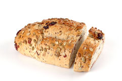 Cranberry Pumpkin Bread. Fresh loaf of cranberry pumpkin bread Royalty Free Stock Photography