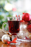 Cranberry punch or red hot wine Royalty Free Stock Photos