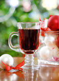 Cranberry punch or red hot wine Royalty Free Stock Image