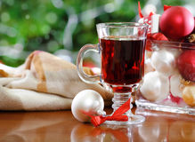 Cranberry punch or red hot wine Royalty Free Stock Photo