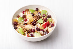 Cranberry raisins apple cereal Stock Image