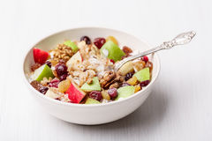 Cranberry raisins apple cereal Royalty Free Stock Image