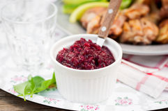 Cranberry Red Onion Sauce Royalty Free Stock Photography