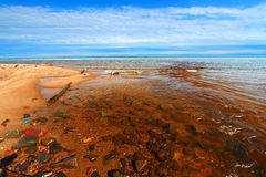 Cranberry River Beach Michigan Stock Images