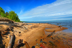 Cranberry River and Lake Superior Stock Photos