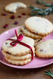 Cranberry and rosemary cookies Stock Image