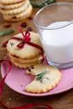 Cranberry and rosemary cookies Royalty Free Stock Photos