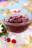 Cranberry sauce royalty free stock photo