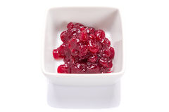 Cranberry sauce in the bowl Stock Image