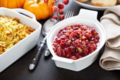 Cranberry sauce for Thanksgiving royalty free stock photo