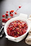 Cranberry sauce for Thanksgiving stock photo