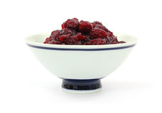 Cranberry Sauce with Whole Berries Royalty Free Stock Images