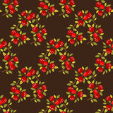 Cranberry seamless pattern. Cranberry on a dark background. Seamless pattern Stock Images