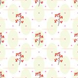 Cranberry seamless pattern. Floral seamless pattern with cranberry. Vector swatch for textile or wrapping paper Royalty Free Stock Image