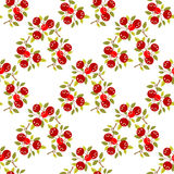 Cranberry seamless pattern. Cranberry on a white background. Seamless pattern Royalty Free Stock Photography