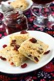 Cranberry shortbread Stock Photos