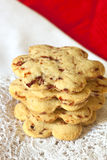Cranberry Shortbread. Biscuits in a stack.  Delicious holiday eating Stock Photo