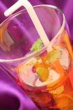 Cranberry sok przeciw narusza tło zdjęcie stock