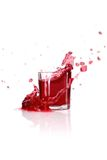 Cranberry splash Stock Image
