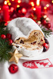 Cranberry stollen Stock Photography
