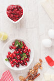 Cranberry strudel  ingredients Stock Images