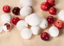 Cranberry in a sugar powder Royalty Free Stock Photography