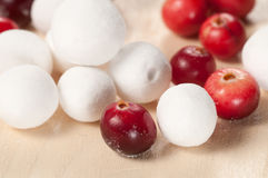 Cranberry in a sugar powder Royalty Free Stock Photo