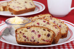 Cranberry Sweet Bread Stock Images