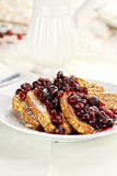 Cranberry Syrup and Powered Sugar over French Toast Royalty Free Stock Photos