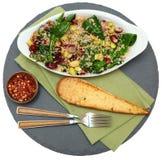 Cranberry szpinaka Quinoa sałatka obraz royalty free