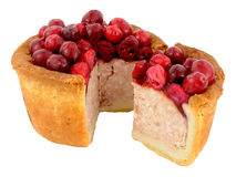 Cranberry Topped Pork Pie Stock Photo