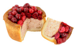 Cranberry Topped Pork Pie Stock Photography