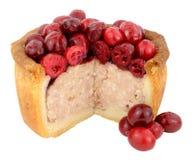 Cranberry Topped Pork Pie Stock Image