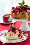 Cranberry Tort Zdjęcia Royalty Free